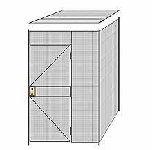 "2-Wall Welded Wire Partition w/ Ceiling - 5'4"" x 5'4"" x 8'5-1/4""H"