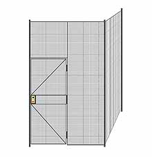 "2-Wall Welded Wire Partition - 6'4"" x 6'4"" x 10'5-1/4""H"
