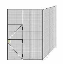 "2-Wall Welded Wire Partition - 7'4"" x 7'4"" x 10'5-1/4""H"
