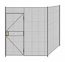 "2-Wall Welded Wire Partition - 7'4"" x 7'4"" x 8'5-1/4""H"