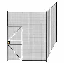 "2-Wall Welded Wire Partition - 8'4"" x 8'4"" x 10'5-1/4""H"