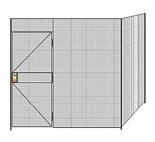 "2-Wall Welded Wire Partition - 8'4"" x 8'4"" x 8'5-1/4""H"