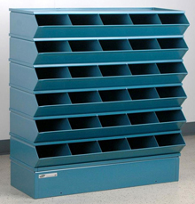 "Sectional Bin Storage, 30 Compartment, 37""W x 13""D x 36""H"