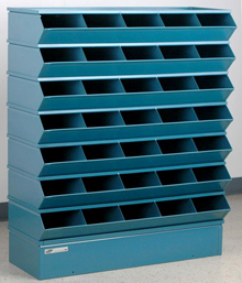 "Sectional Bin Storage, 35 Compartment, 37""W x 13""D x 42""H"