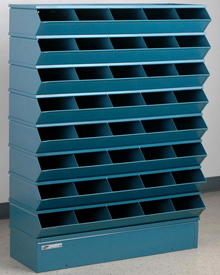 "Sectional Bin Storage, 40 Compartment, 37""W x 13""D x 48""H"