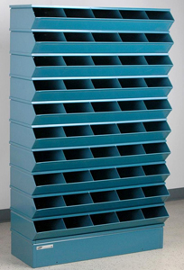 "Sectional Bin Storage, 50 Compartment, 37""W x 13""D x 60""H"