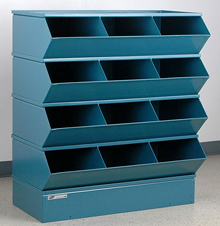 "Sectional Bin Storage, 12 Compartment, 37""W x 20""D x 44""H"