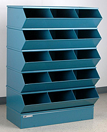 "Sectional Bin Storage, 15 Compartment, 37""W x 20""D x 53-1/2""H"