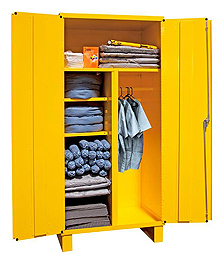 "Spill Control Cabinet w/ Vertical Storage and Shelves - 36""W x 24""D x 78""H"