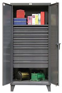 "Storage Cabinet with 2 Adjustable Shelves and 8 drawers - 36""w x 24""d x 72""h"