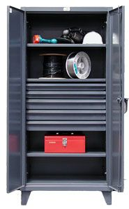 "Storage Cabinet with 4 Adjustable Shelves and 5 drawers - 36""w x 24""d x 72""h"