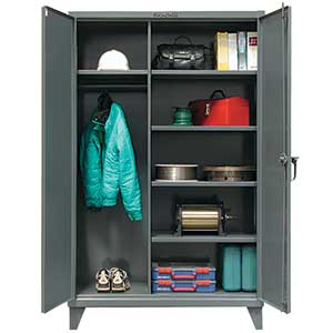 "Wardrobe Cabinet with 5 Adjustable Shelves - 60""W x 24""D x 72""H"