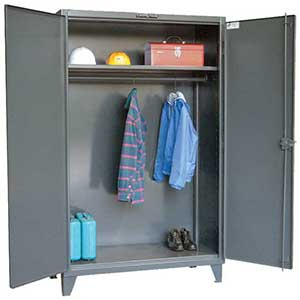 "Wardrobe Cabinet with Full Width Rod and 1 Adjustable Shelf - 48""W x 24""D x 72""H"