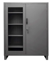 "Windowed Heavy Duty Cabinet w/ Electronic Lock - 60""W x 24""D x 78""H"