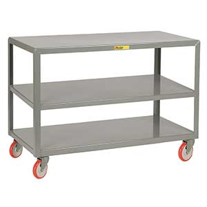 "Mobile Table - 1,000 lb. Capacity, 3 Shelves, 30""W x 48""L x 34""H"