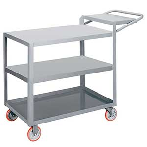 "Order Picking Cart - 3 Shelves, 24""W x 36""L, Flush Top"