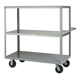 "Steel Shelf Truck - 3 Flush Shelves, 24""W x 48""L"
