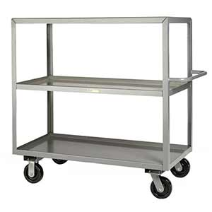 "Steel Shelf Truck - 3 Lip Shelves, 24""W x 36""L"