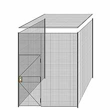 "3-Wall Welded Wire Partition w/ Ceiling - 8'4"" x 8'4"" x 10'5-1/4""H"