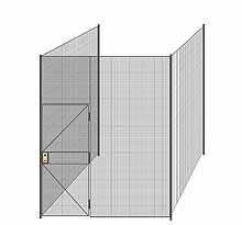 "3-Wall Welded Wire Partition - 8'4"" x 8'4"" x 10'5-1/4""H"