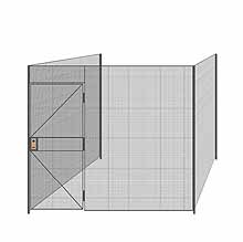 "3-Wall Welded Wire Partition - 9'4"" x 9'4"" x 8'5-1/4""H"