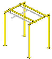 Floor Supported Rail System, 20'L x 10'W, 10' Underclearance, 550 lbs. Cap.
