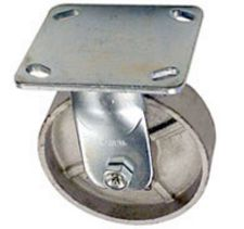 "40 Series Rigid Caster with 3-1/4"" x 1-1/2"" Cast Iron Wheel and 700 lb. Capacity"
