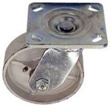 "40 Series Swivel Caster - 4"" x 1-1/2"" Cast Iron Wheel - 500 lb. Cap."
