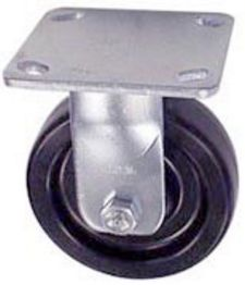 "40 Series Rigid Caster - 6"" x 1-1/2"" Phenolic Wheel - 800 lb. Cap."
