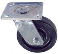 "40 Series Swivel Caster - 3-1/4"" x 1-1/2"" Phenolic Wheel - 600 lb. Cap."