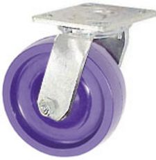 "40 Series Swivel Caster - 4"" x 1-1/2"" Solid Urethane Wheel - 300 lb. Cap."