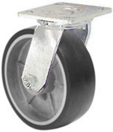 "40 Series Swivel Caster with 3-5/8"" x 1-1/2"" Urethane on Aluminum Wheel and 420 lb. Capacity"