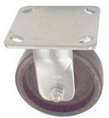 "40 Series Rigid Caster - 4"" x 1-1/2"" Urethane on Iron Wheel - 600 lb. Cap."