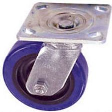 "40 Series Swivel Caster - 4"" x 1-1/2"" Urethane on Plastic Wheel - 500 lb. Cap."