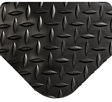 Diamond-Plate SpongeCote Beveled Heavy Duty Black 9/16in x 4ft x 75ft Full Roll