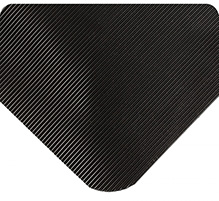Corrugated SpongeCote Beveled Heavy Duty Black 1/2in x 3ft x 5ft