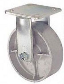 "45 Series Rigid Caster with 8"" x 2"" Cast Iron Wheel and 1,200 lb. Capacity"