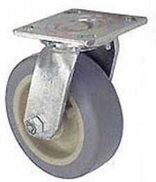 "45 Series Swivel Caster with 8"" x 2"" Performance TPR Wheel and 600 lb. Capacity"