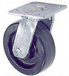 "45 Series Swivel Caster with 6"" x 2"" Phenolic Wheel and 1,200 lb. Capacity"