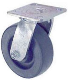 "45 Series Swivel Caster with 4"" x 2"" Polyolefin Wheel and 500 lb. Capacity"