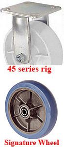 "45 Series Rigid Caster with 4"" x 2"" Signature Wheel and 400 lb. Capacity"