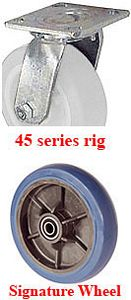 "45 Series Swivel Caster with 4"" x 2"" Signature Wheel and 400 lb. Capacity"