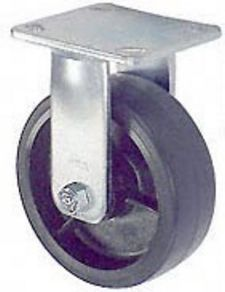 "45 Series Rigid Caster with 6"" x 2"" Urethane on Iron Wheel and 1,200 lb. Capacity"