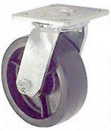 "45 Series Swivel Caster with 8"" x 2"" Urethane on Iron Wheel and 1,200 lb. Capacity"