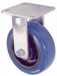 "45 Series Rigid Caster with 6"" x 2"" Urethane on Plastic Wheel and 900 lb. Capacity"