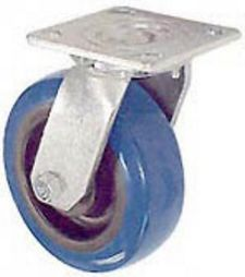 "45 Series Swivel Caster with 4"" x 2"" Urethane on Plastic Wheel and 600 lb. Capacity"