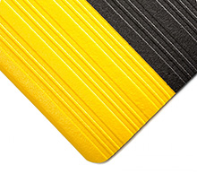Tuf Sponge Black w/Yellow Borders 3/8in x 3ft x 60ft Full Roll