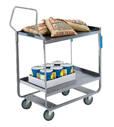 "Stainless Steel Utility Cart - 16-1/4"" W x 30"" L x 46-1/4"" H, 700 lb. Cap."
