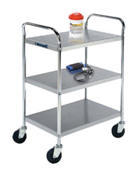 "Stainless Steel Utility Cart - 17-1/2"" W x 27"" L x 35"" H, 500 lb. Cap."