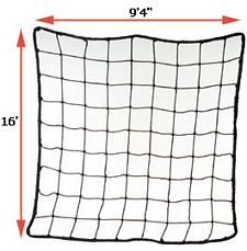 "Rack Safety Net, 9'4"" x 16', 4,000 lbs. Cap. 4"" x 4"" Nylon Mesh"
